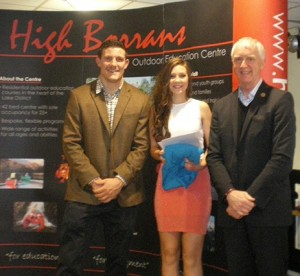 The annual Young Leader Awards Ceremony with Patrons Mark Wilson and Professor Roy Sandbach (right)