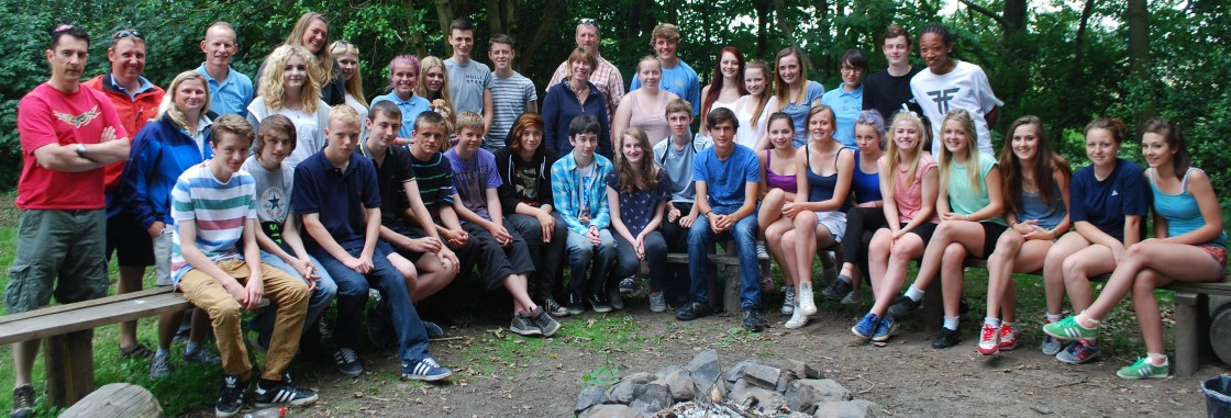 The 2013 Young Leaders enjoying a campfire at High Borrans